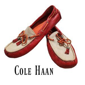 Cole Haan leather loafers boat style shoes size 8